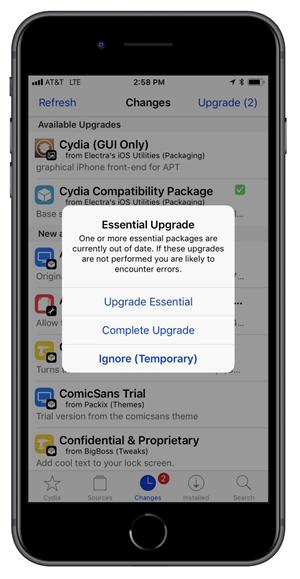 cydia Complete Upgrade