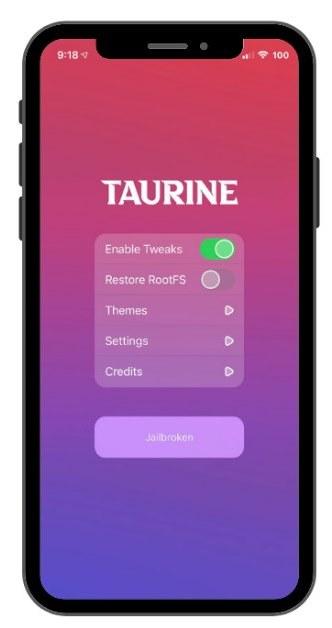 taurine jailbreak app